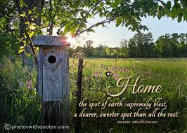 Home Inspirational words